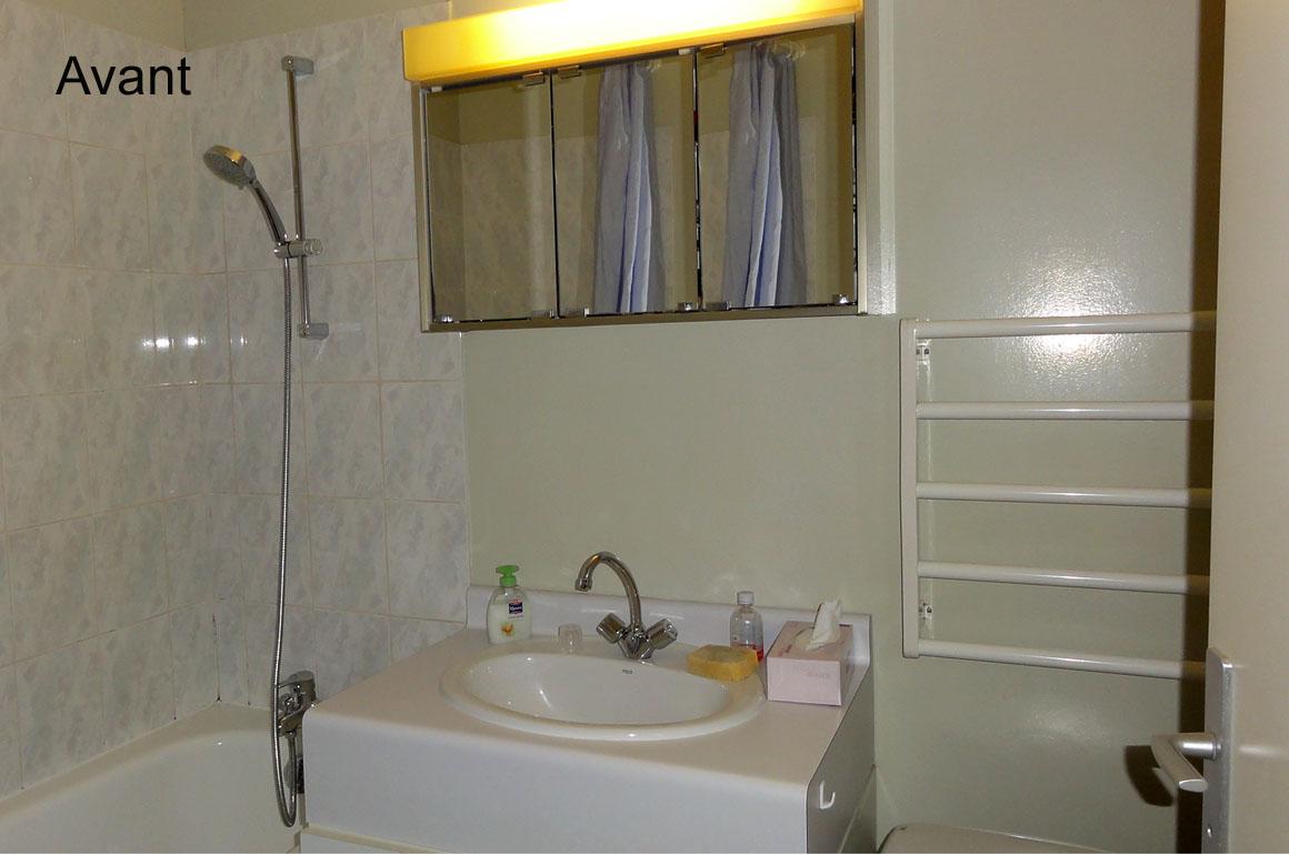 Salle de bain d'origine et baignoire, avant les travaux