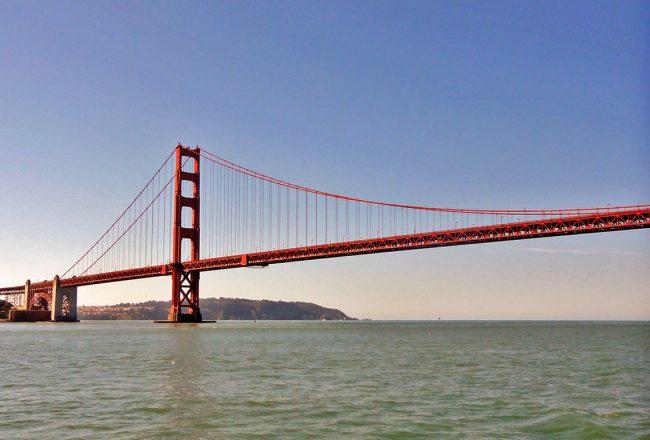 Golden Gate bridge, vue de la baie San-Francisco