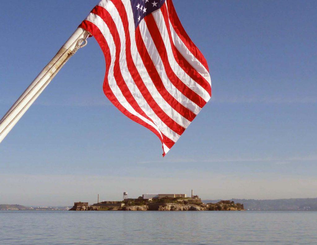 Ile d'Alcatraz, réhabilitée, accueille 1 million de touristes par an.