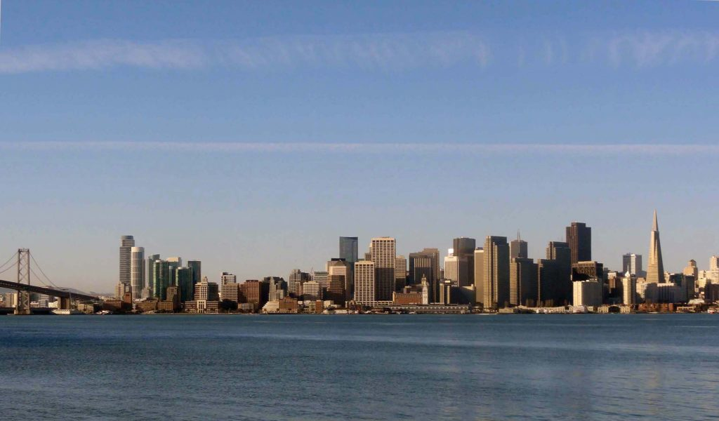 San Francisco, vue de la baie d'Oakland