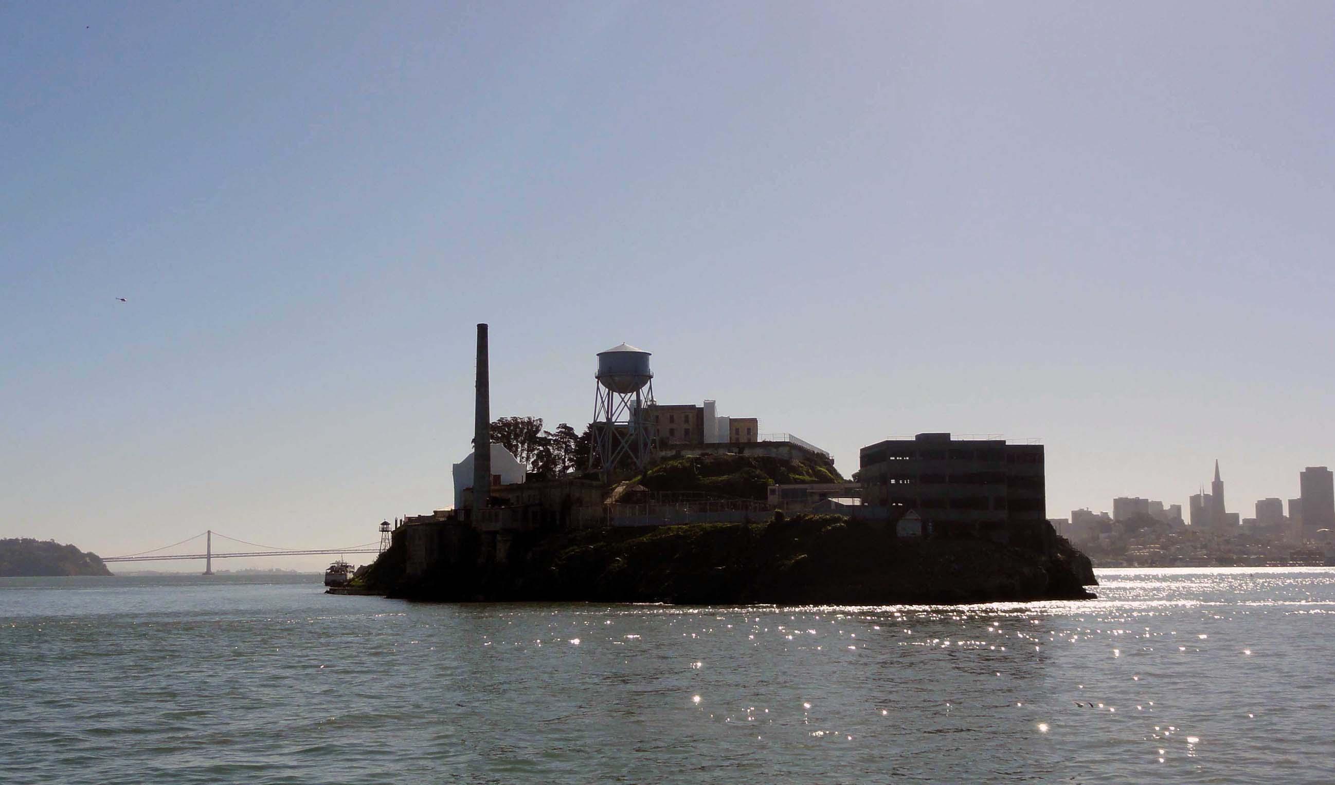 Ile d'Alcatraz connue pour sa prison, dans la baie de San Francisco.