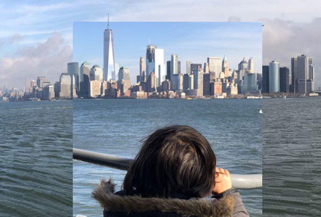 New-York, vue de la rivière Hudson