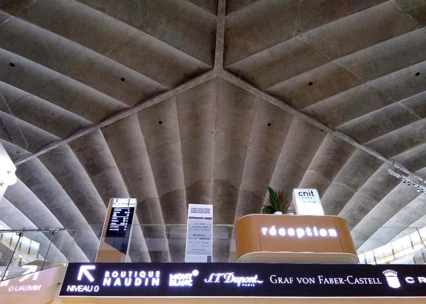 4 vue de linterieure la voute en beton dessine la forme for L architecture interieure