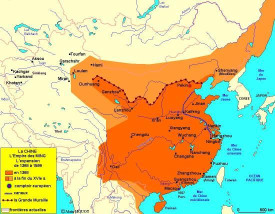 Carte de la Muraille de Chine